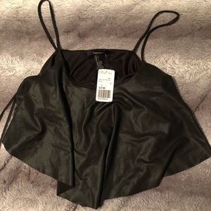 Leathery crop top